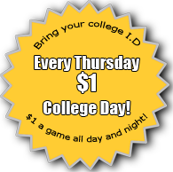 College Discount at Clarkesville Lanes